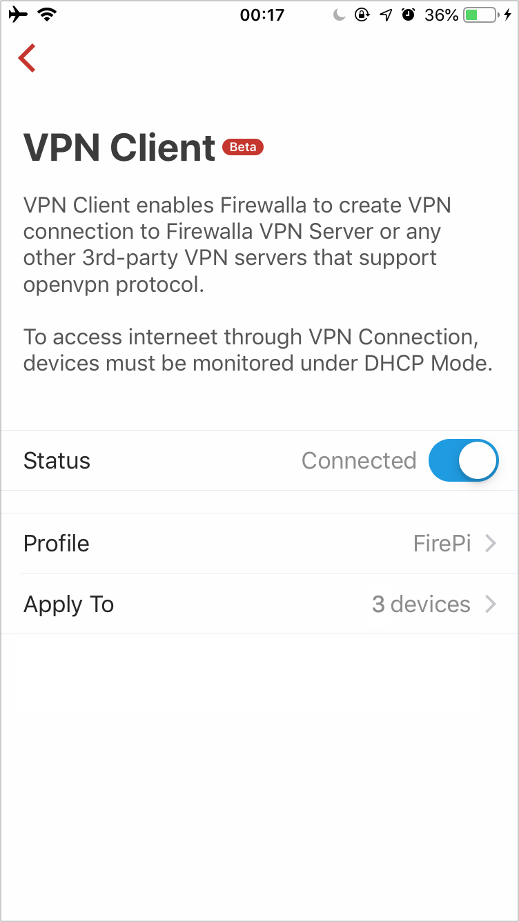 VPN Client (Beta) – Firewalla